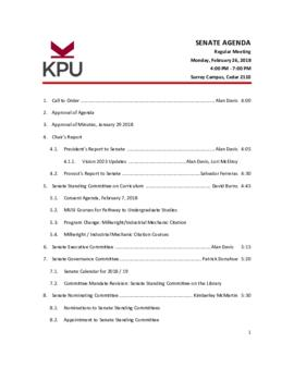 2018 02 26 Senate Agenda Package