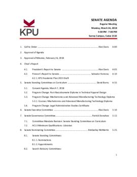 2018 03 26 Senate Agenda Package