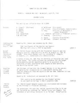 Minutes - Regular Meeting - April 22, 1981